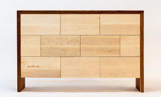 modern furniture design with distinctive staggered facade - dresser - Infusion Furniture