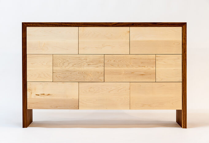 modern furniture design with distinctive staggered facade - dresser - Infusion Furniture