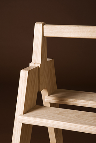 Kitchen Step Stool of ash by Infusion Furniture - modern furniture design - Quentin Kelley