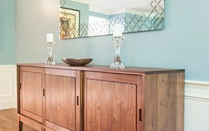Custom Walnut Sideboard by Infusion Furniture
