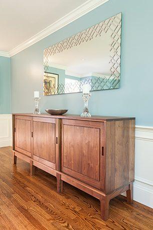 Custom Walnut Sideboard by Infusion Furniture