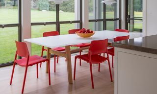 Acrylic & Oak Dining Table by Infusion Furniture