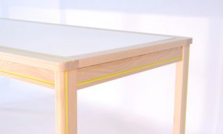 Color channel detail of Striped Dining Table