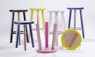 Different sizes and colors of the Trio Stool