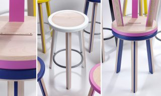 3 views of the Trio Stool - Infusion Furniture