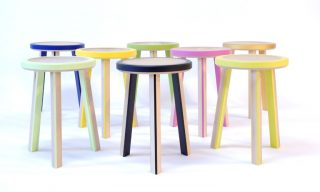 Trio stools with and without footrests