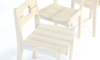 Contoured two part ash seats of K & A chairs - Infusion Furniture