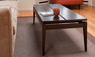 Modern coffee table eith floating top and tapered legs - Ethereal Coffee Table - Infusion Furniture