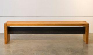 Custom bench from reclaimed pine beams