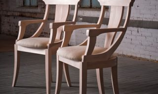 Two Jersey Chairs from Infusion Furniture showing the elegant curves