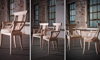 Three views of the classic modern wood chair - Jersey Chair from Infusion Furniture
