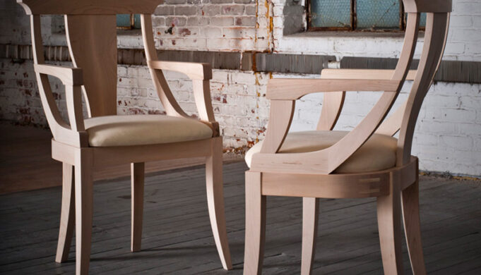 Handcrafted modern chair with beautiful curves - Infusion Furniture