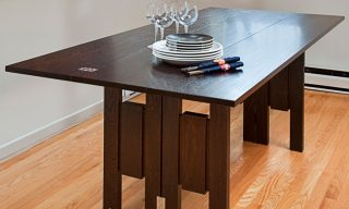 Transformer Table unfolded in dining table state - Infusion Furniture