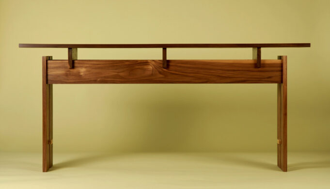 Floating top console table - Trilogy Table by Infusion Furniture