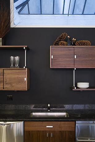 Upper cabinets - custom loft kitchen cabinets