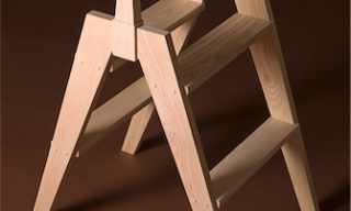 Kitchen Step Stool of ash by Infusion Furniture - modern furniture design - Quentin Kelley - Handcrafted Furniture
