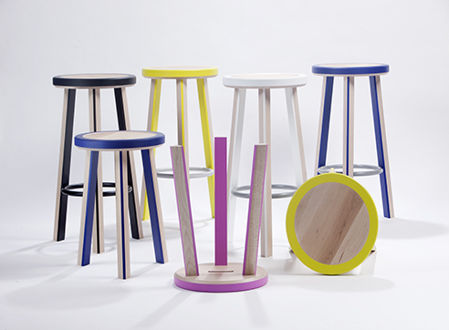 Trio Stools in maple - modern furniture designed and made by Infusion Furniture