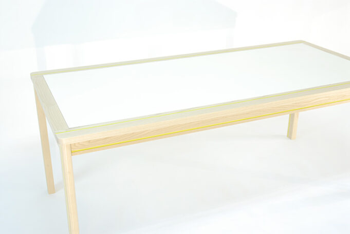 Striped Dining Table with Removable Panel Top - Infusion Furniture