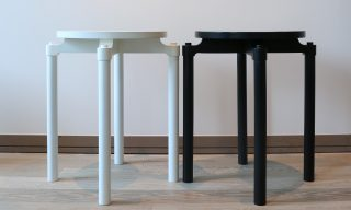 Cylinder Side Tables by Infusion Furniture - clean modern style with a touch of traditional joinery