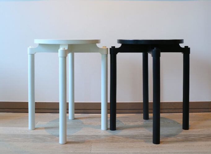Cylinder Side Tables - black and white - Infusion Furniture