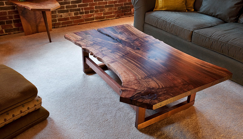 Brilliant Wood Slab Coffee Table Infusion Furniture Beutiful Home Inspiration Ommitmahrainfo