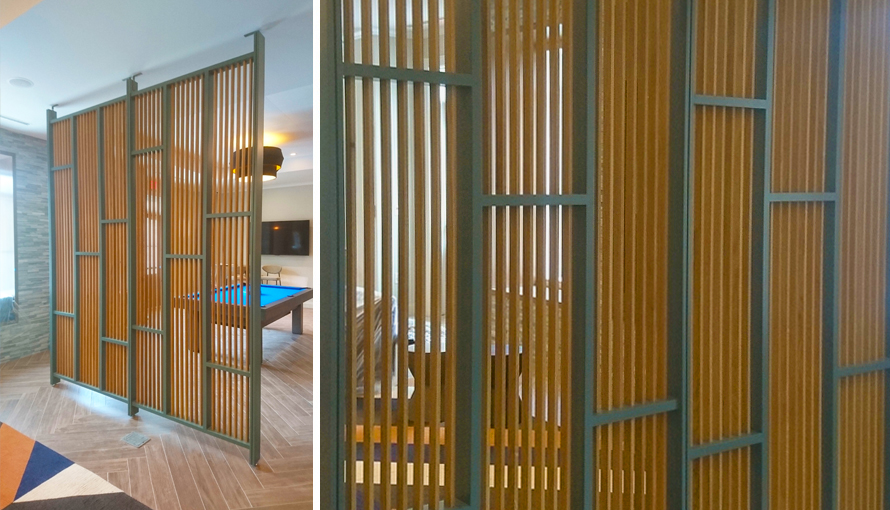 Maple (painted) & oak screen wall - Infusion Furniture